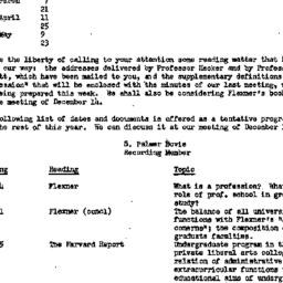 Announcements, 1951-12-01. ...