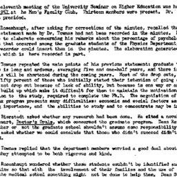 Minutes, 1957-03-11. Higher...