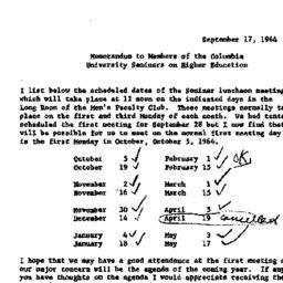 Announcements, 1964-09-17. ...