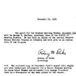 Announcements, 1964-12-10. ...