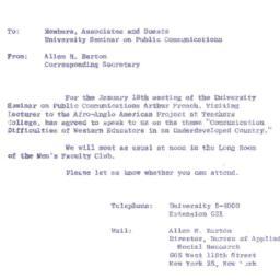 Announcements, 1963-01-18. ...