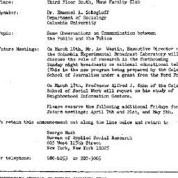 Announcements, 1967-02-24. ...