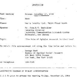 Announcements, 1968-12-13. ...