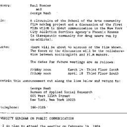 Announcements, 1969-02-14. ...