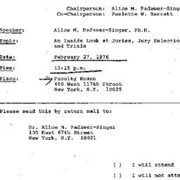 Announcements, 1976-02-27. ...