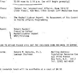 Announcements, 1979-04-18. ...