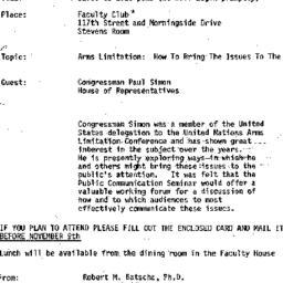 Announcements, 1978-11-13. ...