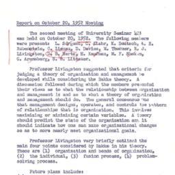 Minutes, 1952-10-20. Organi...