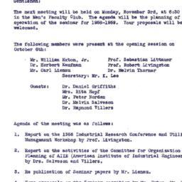 Announcements, 1958-11-03. ...