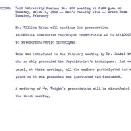 Announcements, 1960-02-26. ...