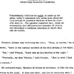 Speaker's paper, 1962-09-05...