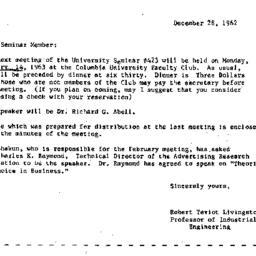 Announcements, 1962-12-28. ...