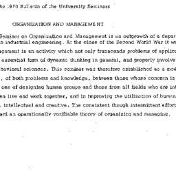 Correspondence, Organizatio...