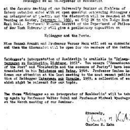 Announcements, 1960-01-14. ...