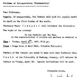Announcements, 1960-03-25. ...
