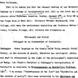 Announcements, 1959-12-16. ...