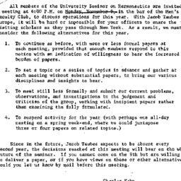 Announcements, 1964-10-30. ...