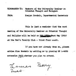 Announcements, 1966-05-09. ...