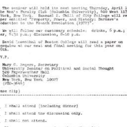 Announcements, 1969-04-02. ...