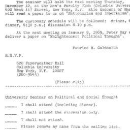 Announcements, 1968-12-06. ...