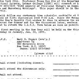 Announcements, 1971-12-01. ...