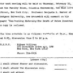 Announcements, 1973-02-09. ...