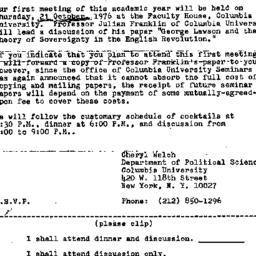 Announcements, 1976-09-27. ...