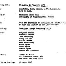 Announcements, 1978-02-16. ...