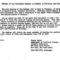 Announcements, 1977-10-28. ...