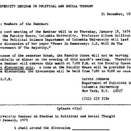 Announcements, 1978-12-31. ...