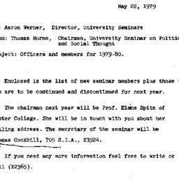 Announcements, 1980-05-22. ...