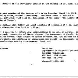 Announcements, 1984-02-16. ...