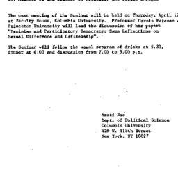 Announcements, 1986-03-28. ...