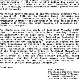 Announcements, 1990-03-13. ...