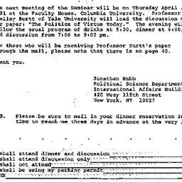 Announcements, 1991-03-14. ...