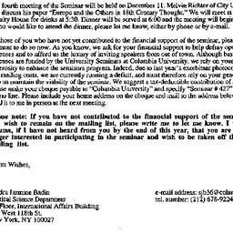 Announcements, 1997-11-17. ...