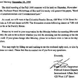 Announcements, 1999-11-04. ...