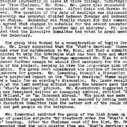 Minutes, 1958-10-15. Americ...