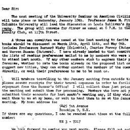 Announcements, 1961-12-30. ...