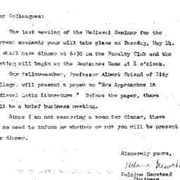 Announcements, 1963-05-14. ...
