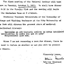 Announcements, 1963-10-08. ...