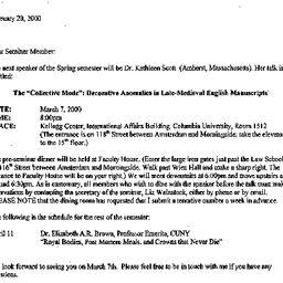Announcements, 2000-02-20. ...