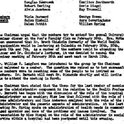 Minutes, 1957-02-12. The Ro...