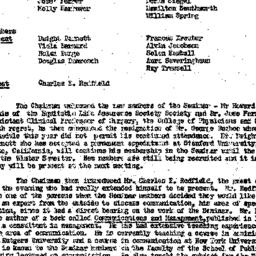 Minutes, 1957-10-08. The Ro...