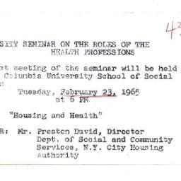 Announcements, 1965-02-12. ...