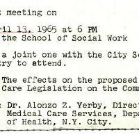 Announcements, 1965-04-02. ...