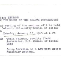Announcements, 1964-12-02. ...