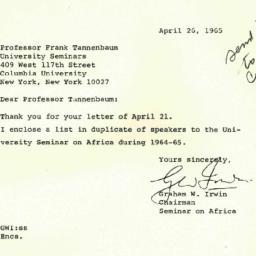 Correspondence, 1965-04-26....