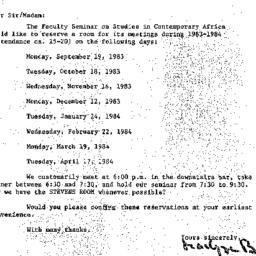Correspondence, 1984-05-24....