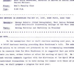 Announcements, 1960-04-18. ...